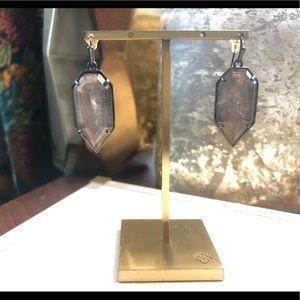 Kendra Scott Palmer Earrings Mirror Rock Crystal